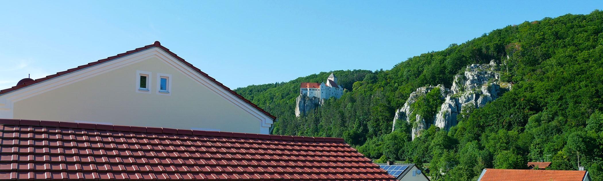 Blick zur Burg (Ferienwohnung zur Einthaler-Klamm)